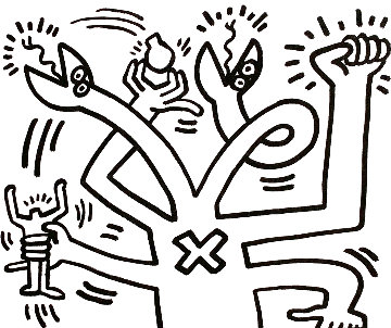 Untitled Print AP  Limited Edition Print - Keith Haring