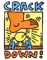 Crack Down! Poster 1986 Limited Edition Print by Keith Haring - 2