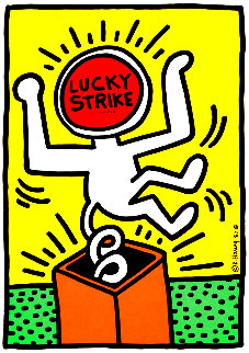 Lucky Strike II Poster 1987 Limited Edition Print - Keith Haring