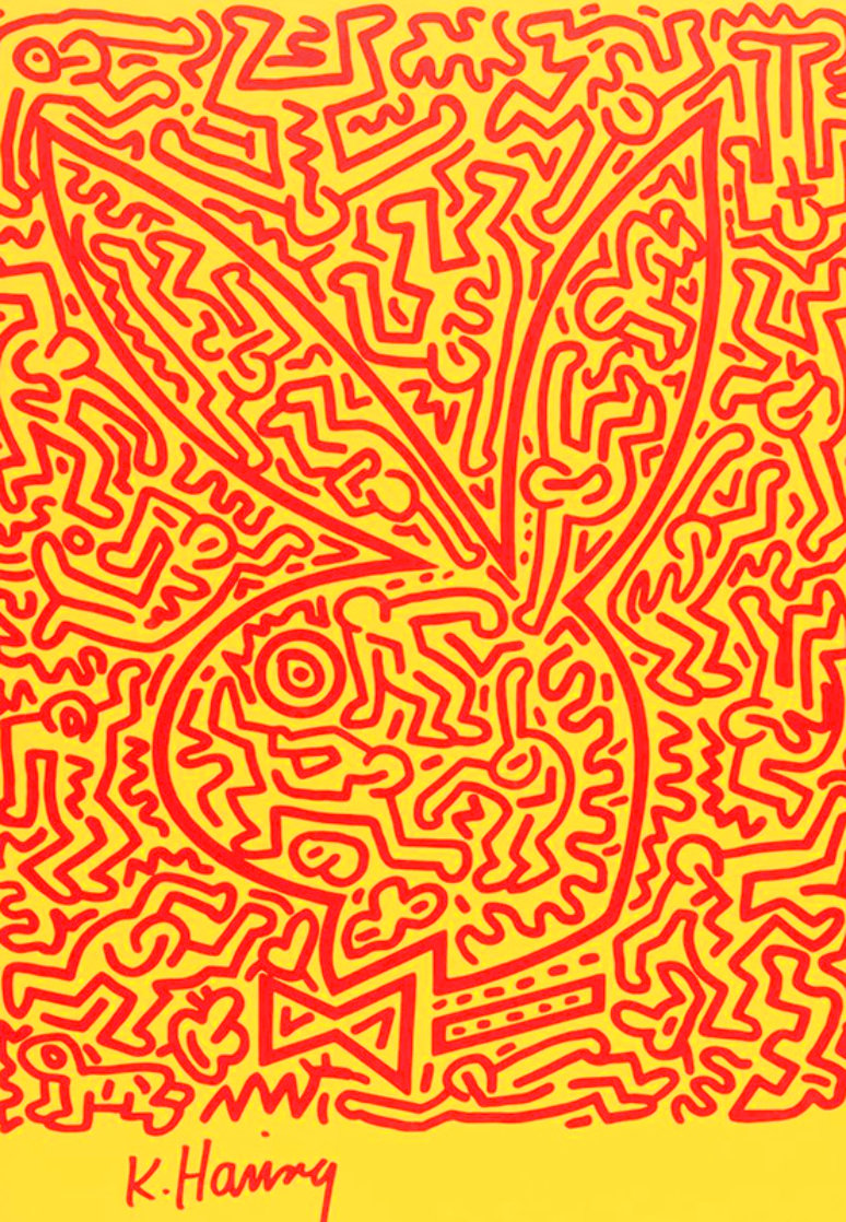 Playboy Series 1990 Limited Edition Print by Keith Haring