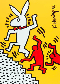 Playboy Series 1990 Limited Edition Print - Keith Haring