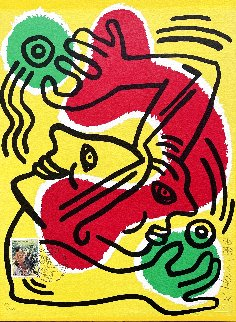 International Volunteer Day 1988 HS Limited Edition Print - Keith Haring