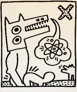Lucio Amelio: Untitled  1983 Limited Edition Print - Keith Haring