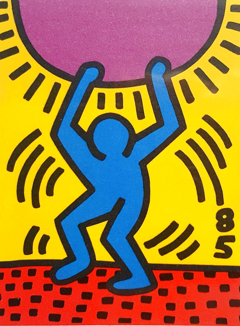United Nations International Youth Year 1985 HS Limited Edition Print by Keith Haring