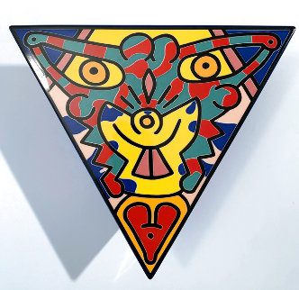 No 2 Spirit of Art, New York Tribeca Cermaic Sculpture 1992 10 in Sculpture - Keith Haring