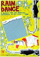 Rain Dance Poster 1985 Limited Edition Print by Keith Haring - 1