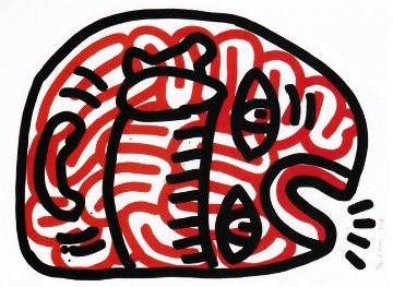 Ludo #2 1985 HS Limited Edition Print by Keith Haring