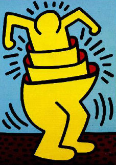 Untitled (Cup Man) 1989 HS Limited Edition Print by Keith Haring