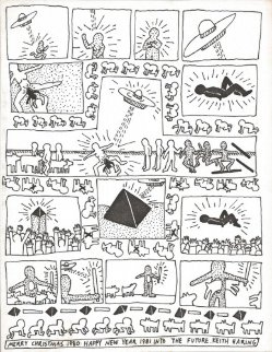 Christmas 1980 HS Limited Edition Print - Keith Haring