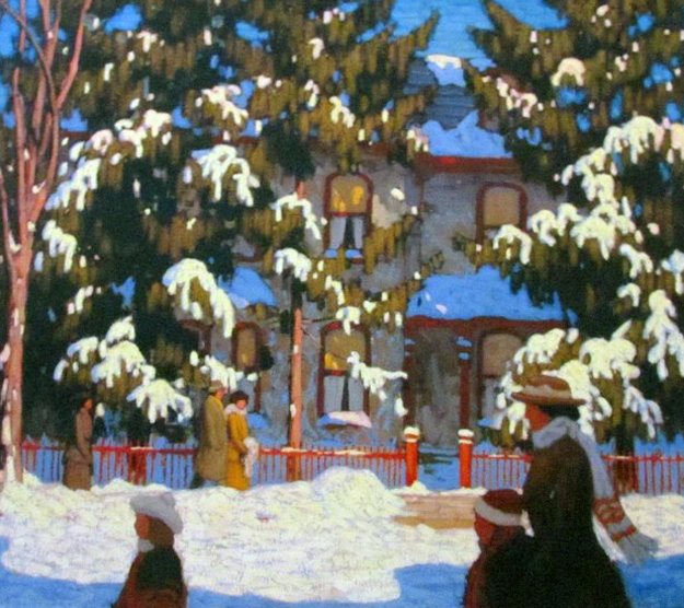 Sunday Morning Limited Edition Print by Lawren Harris