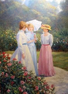 Untitled Painting 1980 36x46 Original Painting by Gregory Frank Harris