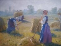 Morning Harvest 2007 36x48 Original Painting by Gregory Frank Harris - 0