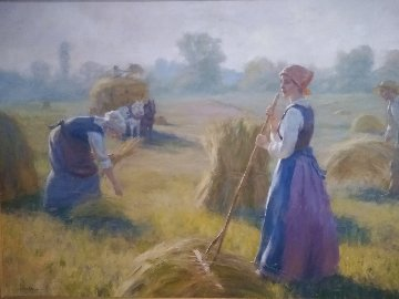 Morning Harvest 2007 36x48 Original Painting - Gregory Frank Harris