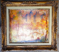 Late Afternoon, Central Park 1980 28x32 Original Painting by Harry Myers - 1