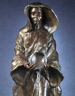 Source 1/2 Life Size Bronze 1995 34 in Sculpture by Frederick Hart