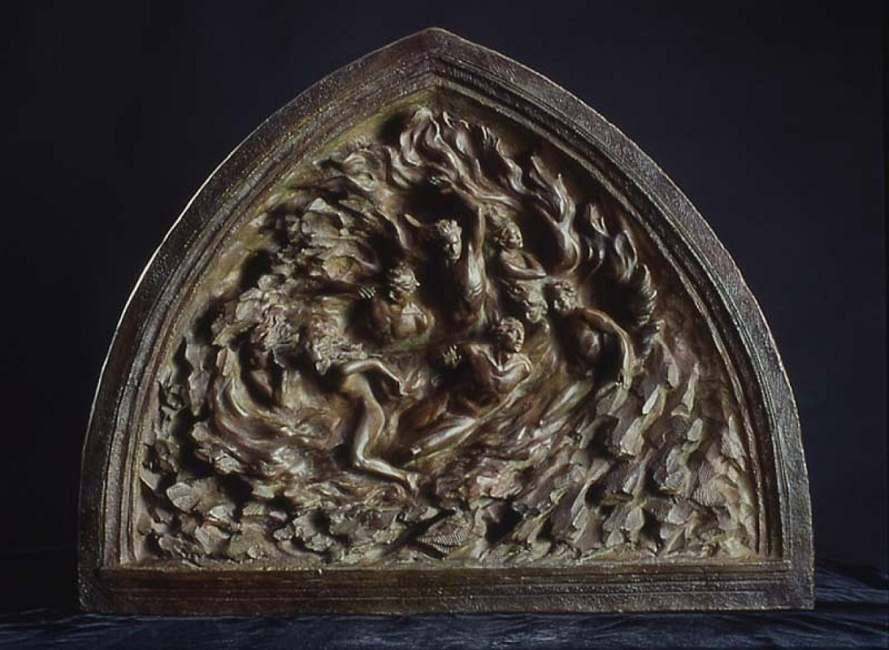 Creation Suite of 3 Bronze Sculptures: Ex Nihilo: Creation, Creation of Day 2002 Sculpture by Frederick Hart