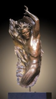 Ex Nihilo Figure  4, 2002 Bronze Sculpture 2002 62 in Sculpture by Frederick Hart