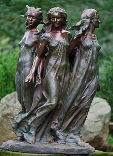 Daughters of Odessa Ensemble  Bronze Sculpture  3/4 Life Size 1997 47 in Sculpture - Frederick Hart