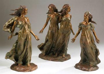 Daughters of Odessa Trilogy 3/4 Life, 1997 Set of 3 Bronze Sculptures 48 in high Sculpture - Frederick Hart