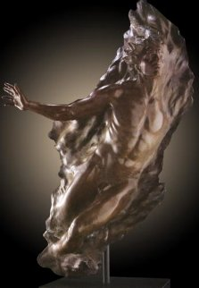 Ex Nihilo Figure 5 (Full Scale)  2006 Life Size Bronze Sculpture 74 in Sculpture by Frederick Hart