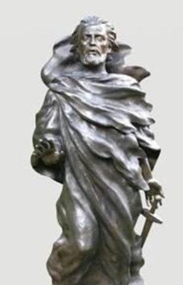 St. Paul Bronze Sculpture  2004 (Full Scale) AP 69 in Sculpture by Frederick Hart