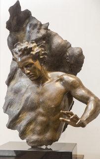 Ex Nihilo: Fragment 8 Bronze Sculpture 2007 45 Sculpture - Frederick Hart