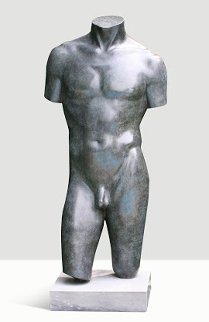 Male Torso Bronze Sculpture Collaborators Proof  1994 39 in Sculpture - Frederick Hart