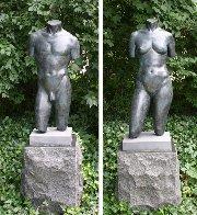 Female Torso Bronze Sculpture Collaborators Proof  1991 41 in   Sculpture by Frederick Hart - 1