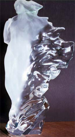 Veil of Light Acrylic Sculpture 1998 22 in Sculpture by Frederick Hart