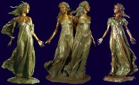 Daughters of Odessa Trilogy, 1997 Set of 3 Bronze Sculptures 48 in high Sculpture by Frederick Hart - 0