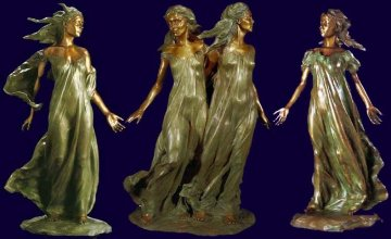 Daughters of Odessa Trilogy, 1997 Set of 3 Bronze Sculptures 48 in high Sculpture - Frederick Hart