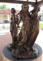 Daughters of Odessa Trilogy, 1997 Set of 3 Bronze Sculptures 48 in high Sculpture by Frederick Hart - 4