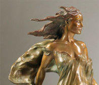 Daughters of Odessa Trilogy, 1997 Set of 3 Bronze Sculptures 48 in high Sculpture by Frederick Hart - 5