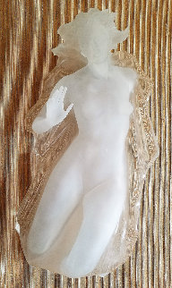 Sacred Mysteries Female Acrylic Sculpture 1982 40 in Sculpture - Frederick Hart