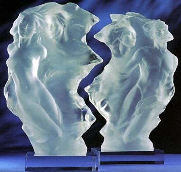 Duet set of 2   1/2 Life Size Acrylic Sculptures 24 in Sculpture by Frederick Hart