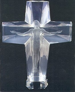Cross of the Millenium Maquette Acrylic Sculpture 1995  12 in Sculpture by Frederick Hart