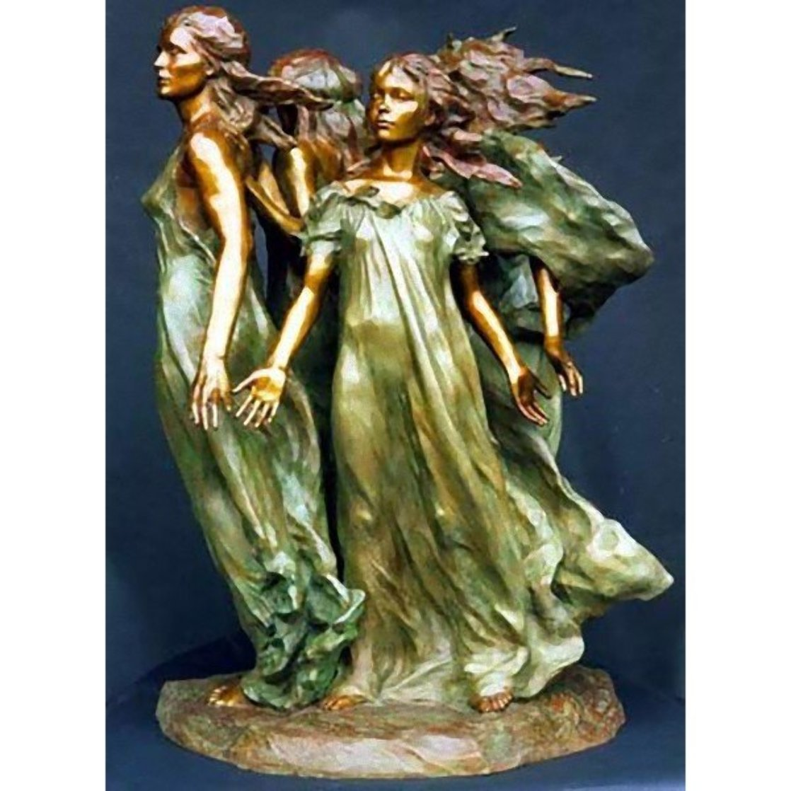 Daughters of Odessa Bronze Sculpture 24 in Sculpture by Frederick Hart