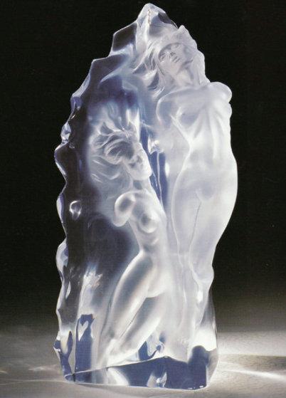 Emerging Flame Acrylic Sculpture 2002 25 in Sculpture by Frederick Hart
