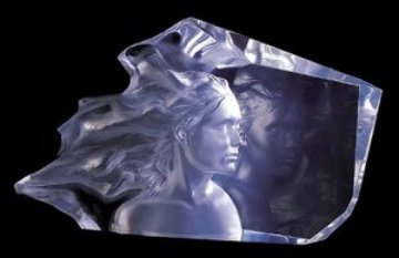 Three Graces Acrylic Sculpture AP 2003 24 in Sculpture - Frederick Hart