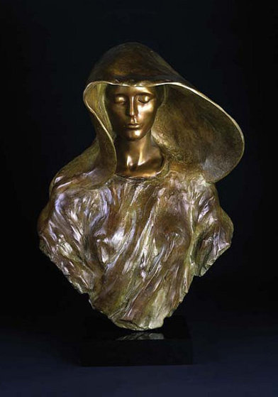 Source Bust Bronze Sculpture 2008 24 in Sculpture by Frederick Hart