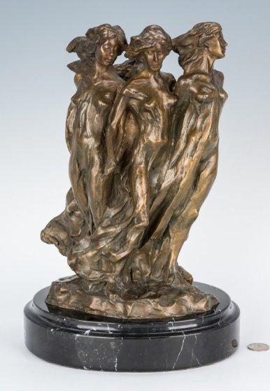 Daughters of Odessa Bronze Sculpture 1998 14 in by Frederick Hart