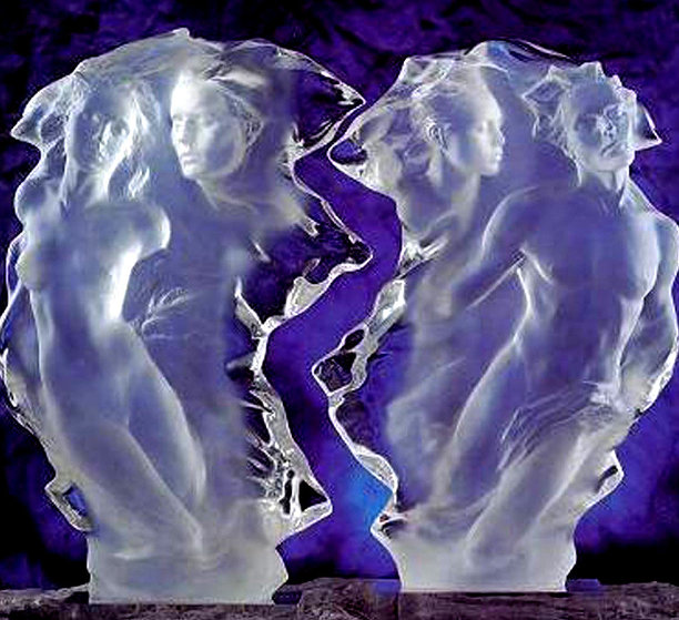 Duets Acrylic Sculpture 2000 24 in by Frederick Hart