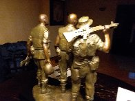 Three Soldiers Bronze Sculpture 1984 18 in Sculpture by Frederick Hart - 3