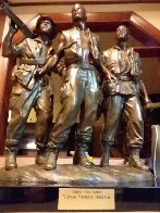 Three Soldiers Bronze Sculpture 1984 18 in Sculpture by Frederick Hart - 5