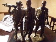 Three Soldiers Bronze Sculpture 1984 18 in Sculpture by Frederick Hart - 1
