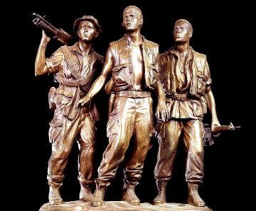 Three Soldiers Bronze Sculpture 1984 18 in Sculpture - Frederick Hart