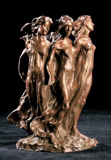 Daughters Maquette Bronze Sculpture 13 in Sculpture by Frederick Hart
