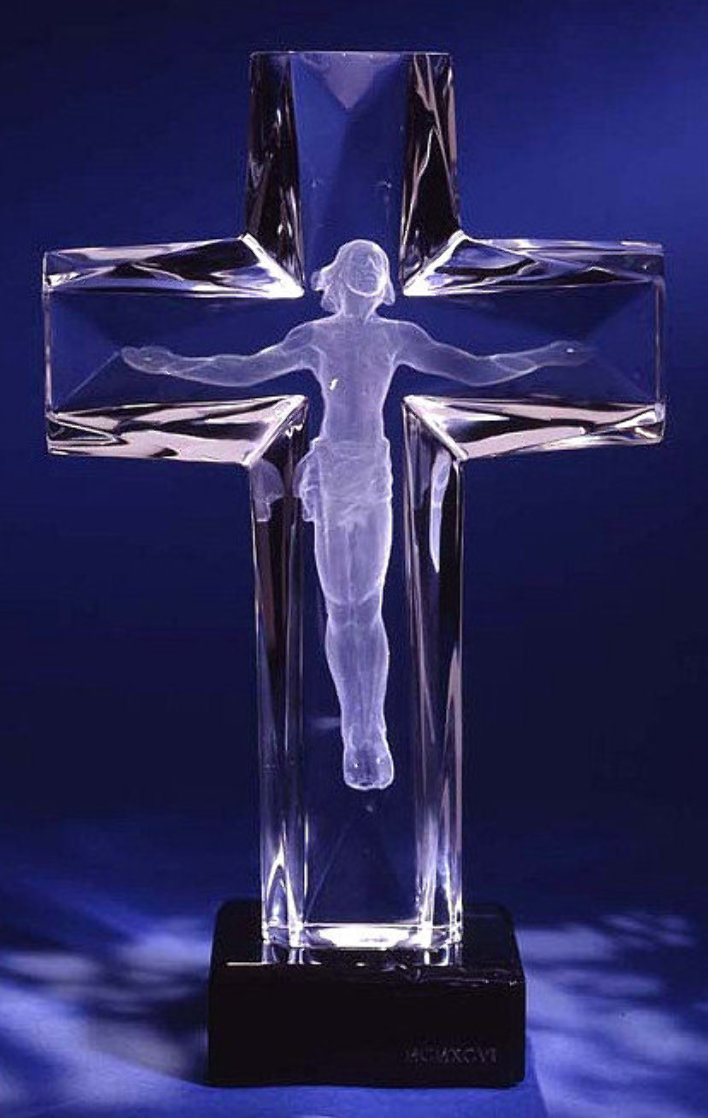 Cross of the Millennium State II Acrylic Sculpture  Sculpture by Frederick Hart