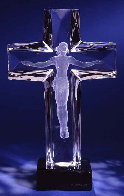 Cross of the Millennium State II Acrylic Sculpture  Sculpture by Frederick Hart - 0