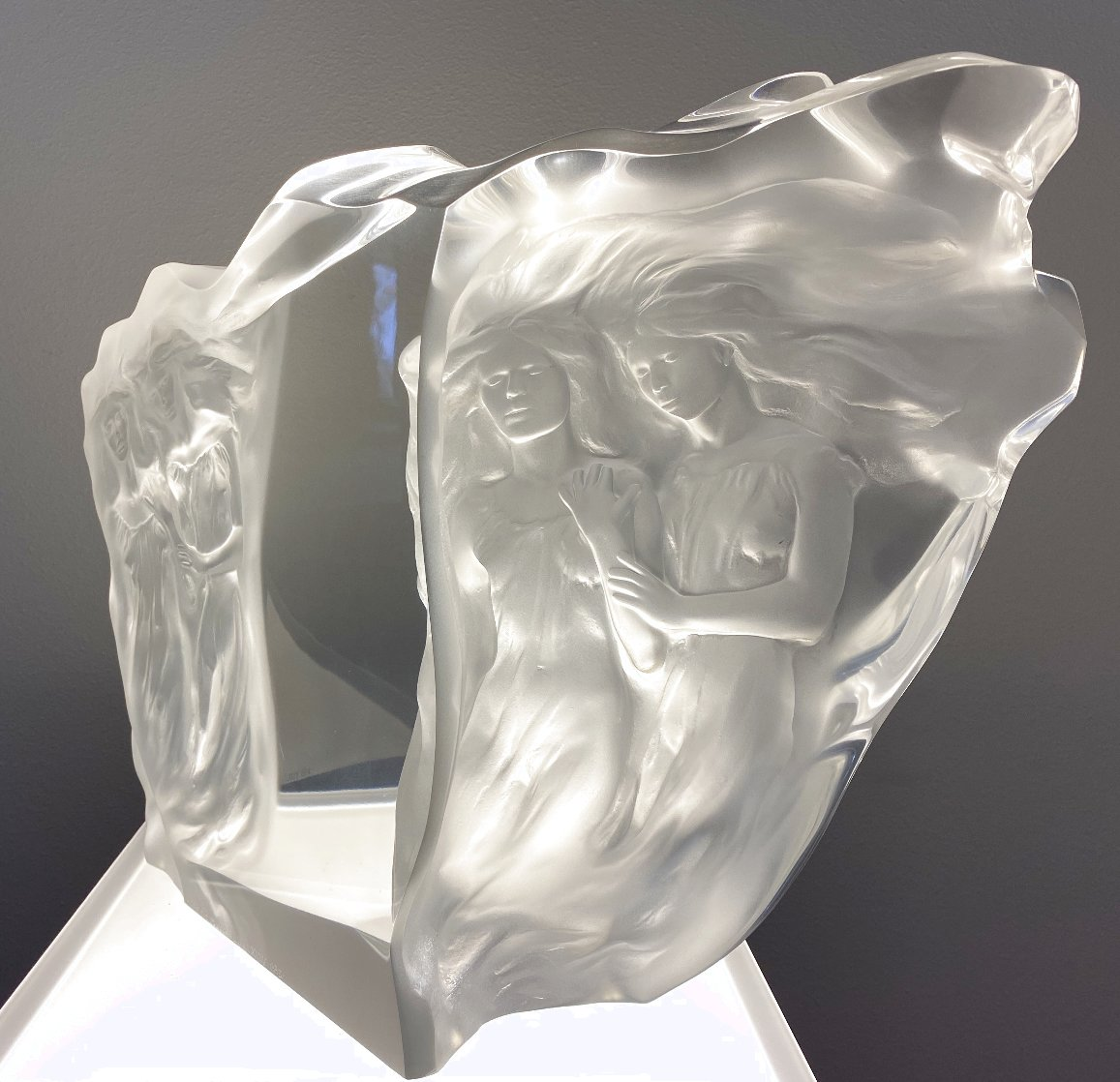 Illuminata Suite of 3 Arcylic Sculptures 15 in Sculpture by Frederick Hart
